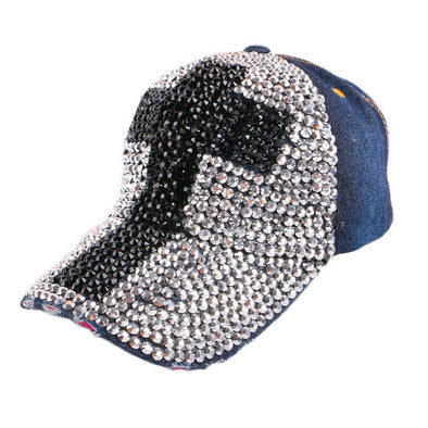 Big Bold Cross Bling Baseball Hat Assorted Colors Free Shipping