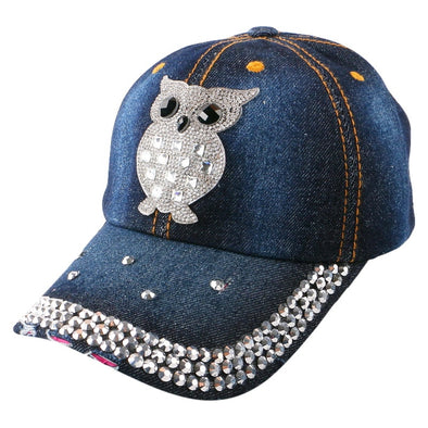 Womens Owl Bling Baseball Cap Assorted Colors Free Shipping