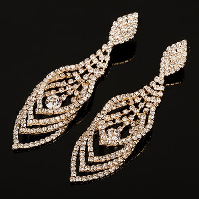 Womens Bling Formal Earrings Bridal Jewelry Free Shipping