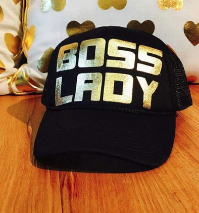 Womens Gold Bold Bling Boss Hat Free Shipping