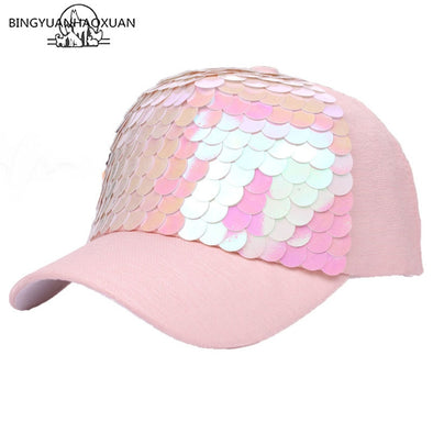 Pink Bling Sequin Hat Black Bling Sequin Hat Free Shipping