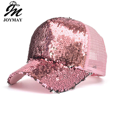 Sequins Bling Mesh Baseball Caps Assorted Colors Free Shipping