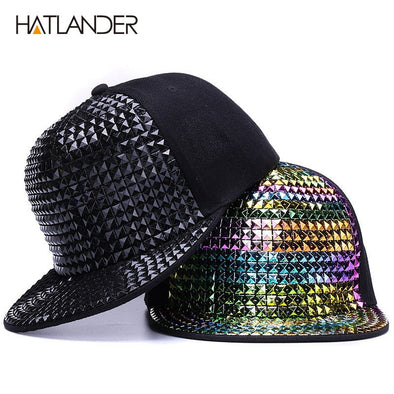 Unisex Fun Funky Hip Hop Bling Snap Back Baseball Hat Free Shipping