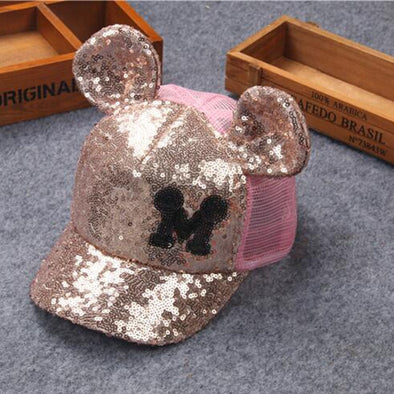 Mickey Mouse Kids Sequined Bling Hat Free Shipping