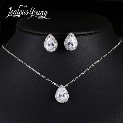 Womens Luxury Tear Drop Necklace Assorted Styles Colors Set Free Shipping