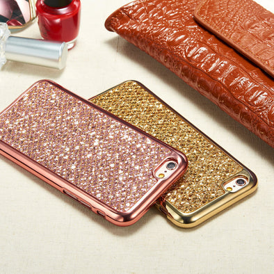 Fashion Glitter Bling Soft Cover Case For Apple iPhone Free Shipping