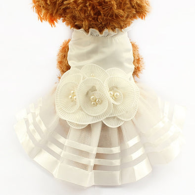Adorable White Princess Doggie Dress Assorted Sizes Free Shipping