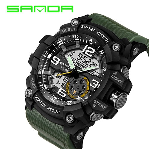 Mens Sports Military Quartz Waterproof Watch Assorted Styles Free Shipping