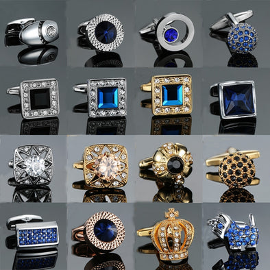 Luxury Unisex Bling Tie and Cuff Links Assorted Styles Free Shipping
