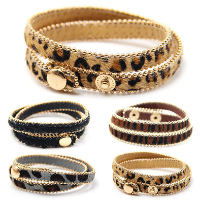 Women's Adjustable Leopard Print Bracelet Free Shipping