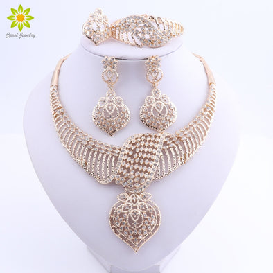 Womens Stunning Bling Necklace Sets Gold or Silver  Free Shipping