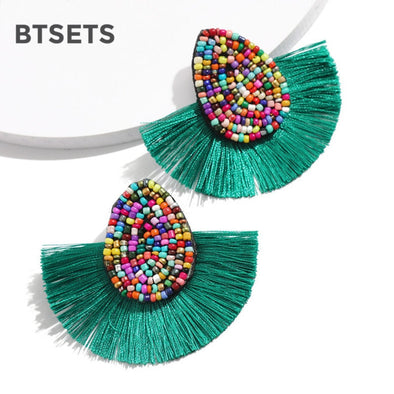 Beautiful Bohemian Beaded Tassel Earrings Assorted Styles Free Shipping