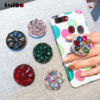 Jeweled Bling Pop Socket Assorted Colors Free Shipping