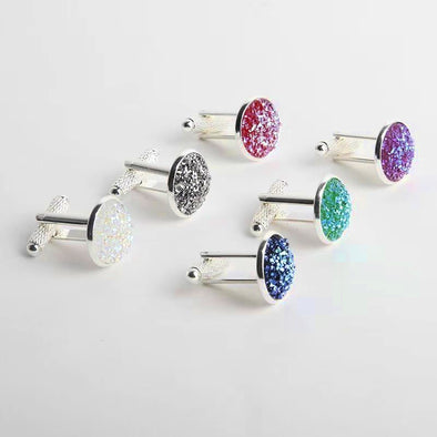 Mens Tie Clips and Bling Cuff Links Assorted Colors  Free Shipping