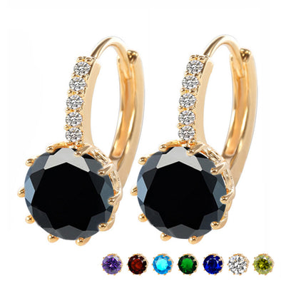 Womens Stunning CZ Earrings Assorted Colors Free Shipping