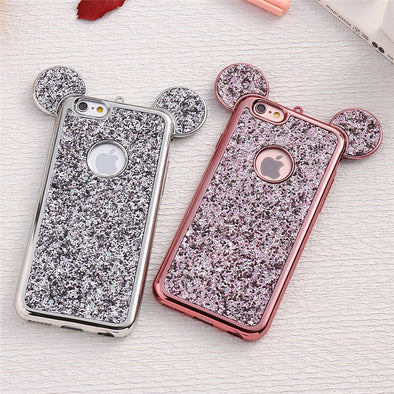 3D Luxury Minnie Mickey Mouse Ears Soft Samsung Case Free Shipping