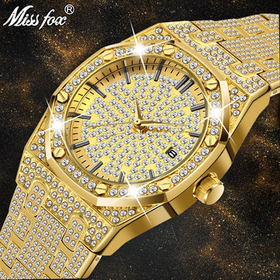 Luxury Brand Diamond Mens Watches Assorted Styles Free Shipping