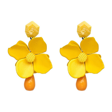 Big Unique Flower Earrings Several Colors Free Shipping