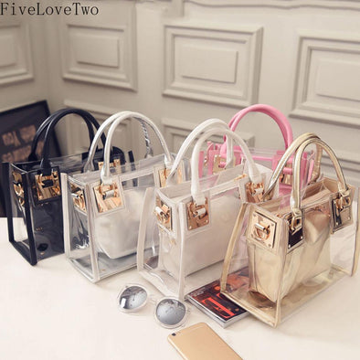 Womens Unique See Through Handbags Assorted Colors Free Shipping