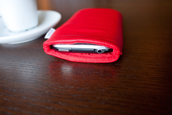 iPhone - Red Leather