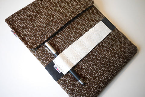 iPad Bandolier - White Fish Leather from Iceland