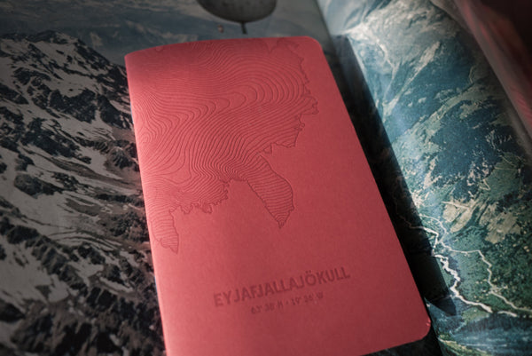 Pack of 3 - Letterpress Notebook Eyjafjallajökull Glacier