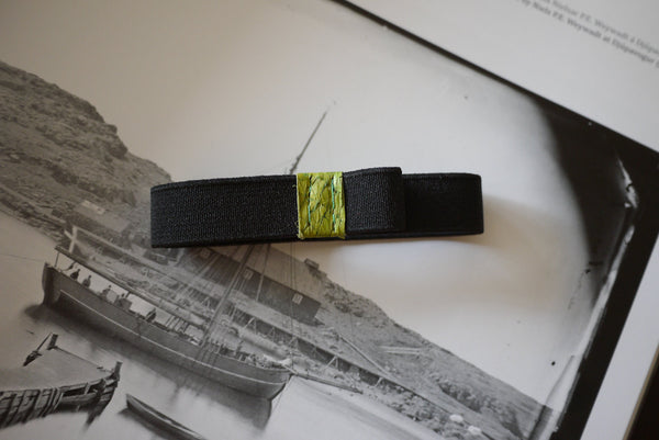 Small Bandolier - Green Fish Leather