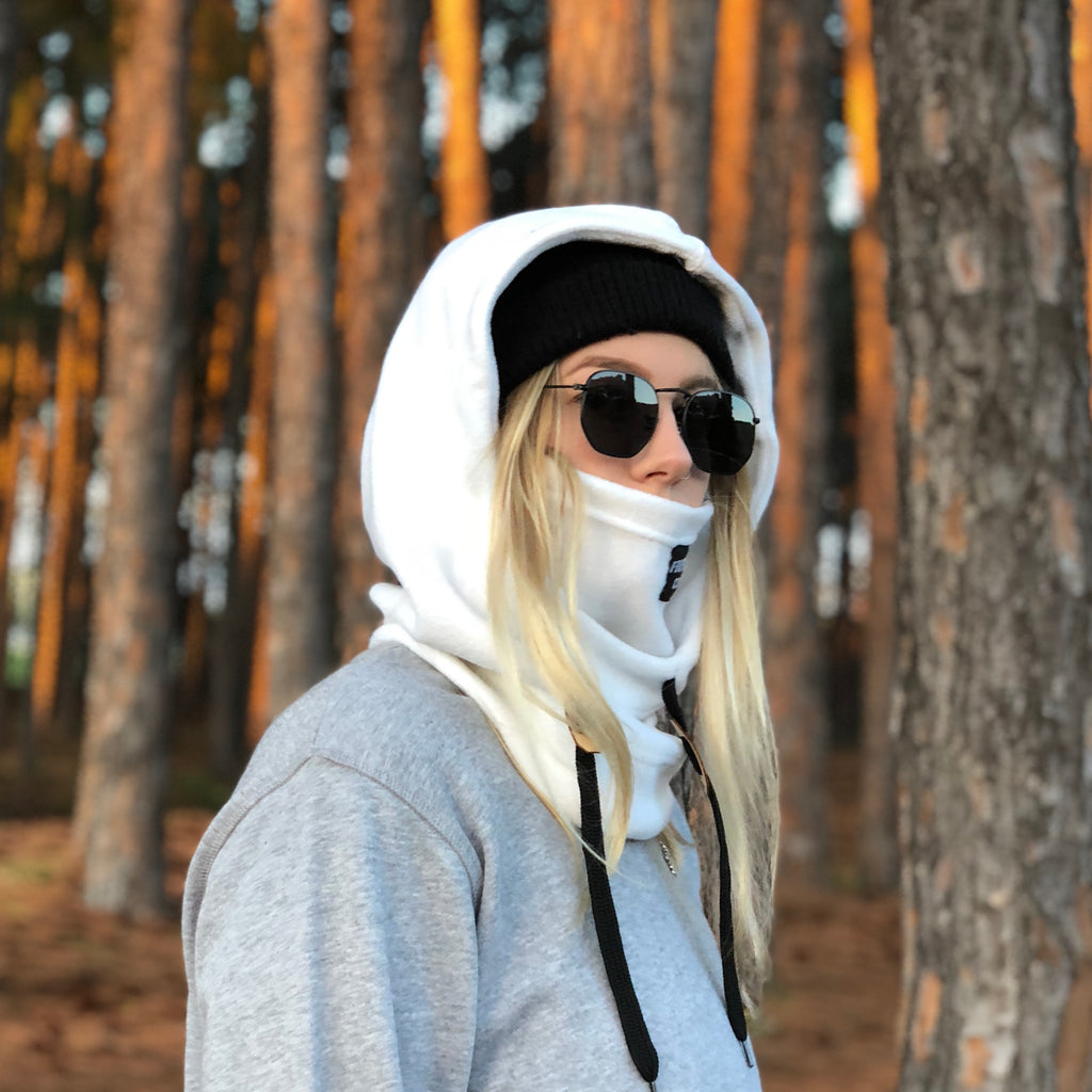 Foryn Co. Hooded Neck Warmer | White Balaclava