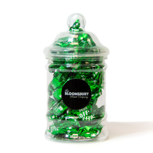 Mint Chocolate Toffees Mini Victorian Sweet Jar