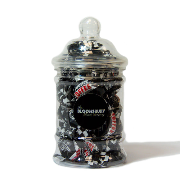 Liquorice Toffees Mini Victorian Sweet Jar