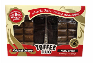 Walker's Nutty Brazil Toffee Duo (200g)