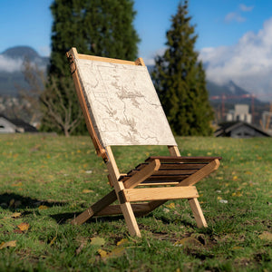 The Secret Spot Chair - Custom Map Print