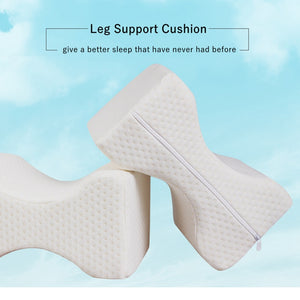 Leg Ease Sleeping Pillow Support Cushion Wedge Pain Knee New Cover Back Hips