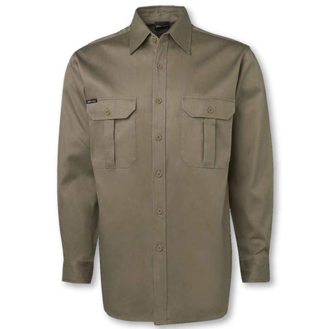 Image of 190gsm Long Sleeve Work Shirt - General Safety NZ Limited