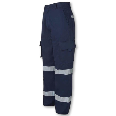 Image of 310gsm Mercerised Multi-Pocket Pants with 3M Tape - General Safety NZ Limited
