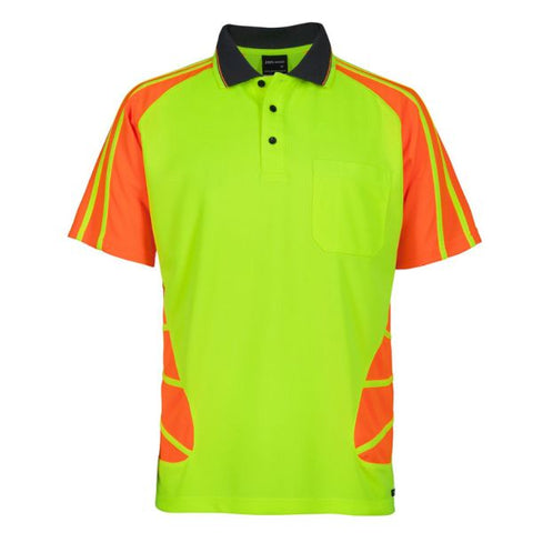 Image of Hi Vis Short Sleeve Spider Polo