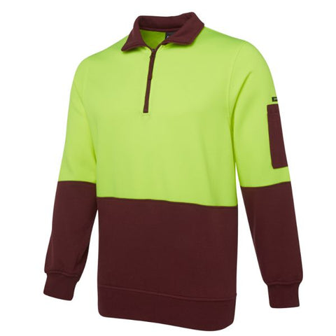 Image of Classic Hi Vis Half Zip Fleece Jumper