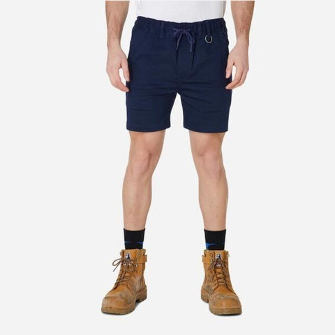 Image of Men's Elastic Waist Basic Shorts with Draw String