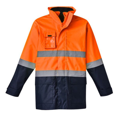 Mens Hi Vis Basic 4 in 1 Waterproof Jacket