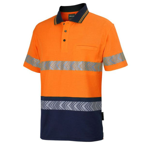 Image of Hi Vis (D+N) Cotton Segmented Tape Polo