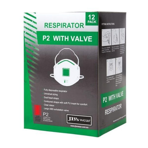 Image of P2 Respirator with Valve - 12 Pack