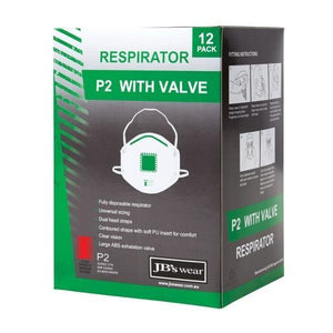 P2 Respirator with Valve - 12 Pack