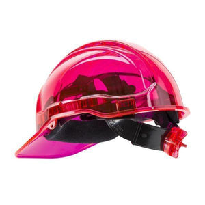 Pink Translucent Ratchet Hard Hat
