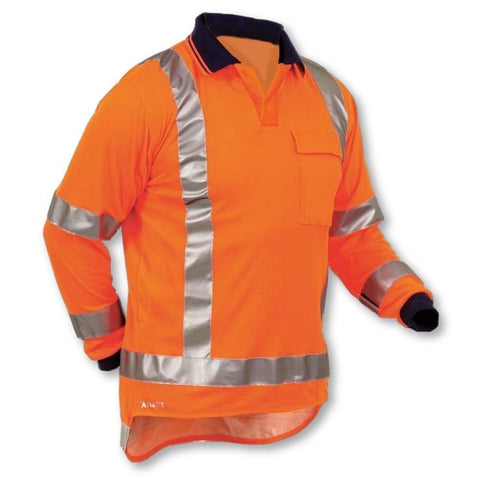 Image of Argyle Long Sleeve Cotton-back TTMC Polo - General Safety NZ Limited