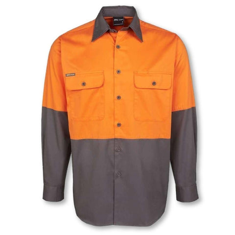 Image of Classic Hi Vis Long Sleeve 150gsm Work Shirt - General Safety NZ Limited