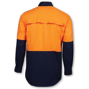 Classic Hi Vis Long Sleeve 150gsm Work Shirt - General Safety NZ Limited
