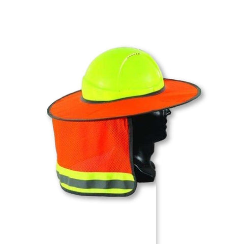 Image of Full Brim Hard Hat Sun Shield and Neck Cover - General Safety NZ Limited