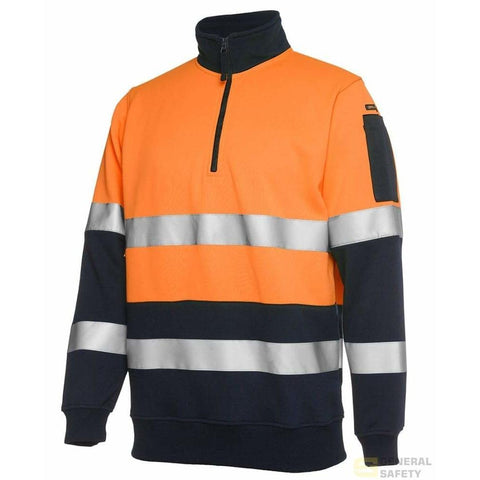 Image of Hi Vis Half Zip (D+N) Fleecy Jumper - General Safety NZ Limited