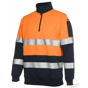 Hi Vis Half Zip (D+N) Fleecy Jumper - General Safety NZ Limited