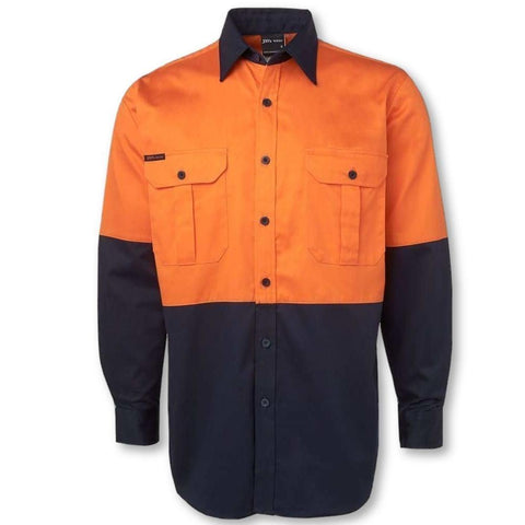 Image of Hi Vis L/S 190gsm Work Shirt - General Safety NZ Limited